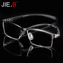 Men Titanium Alloy Eyeglasses Frame for Eyewear Flexible Temples Legs IP Electroplating Material,Full Rim and Half