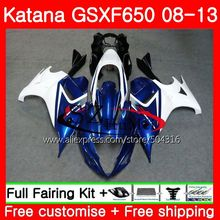 Тела для SUZUKI KATANA GSXF 650 GSXF650 08 09 10 11 12 13 40SH. 1 650F GSX650F 2008 2009 2010 2011 2012 2013 обтекателя глянцевый синий