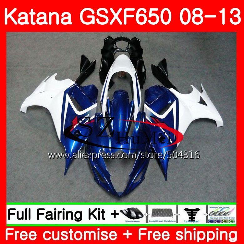 Corps Pour SUZUKI KATANA GSXF 650 GSXF650 08 09 10 11 12 13 40SH. 1 650F GSX650F 2008 2009 2010 2011 2012 2013 Carénage Brillant Bleu