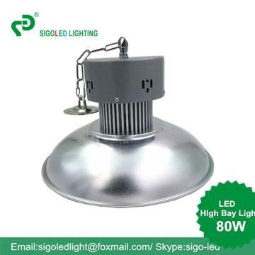 Безплатна доставка-80W LED High Bay висящи тип Фабрика Склад Light Indust0rial Light Сменете светилници с лампи с халгон