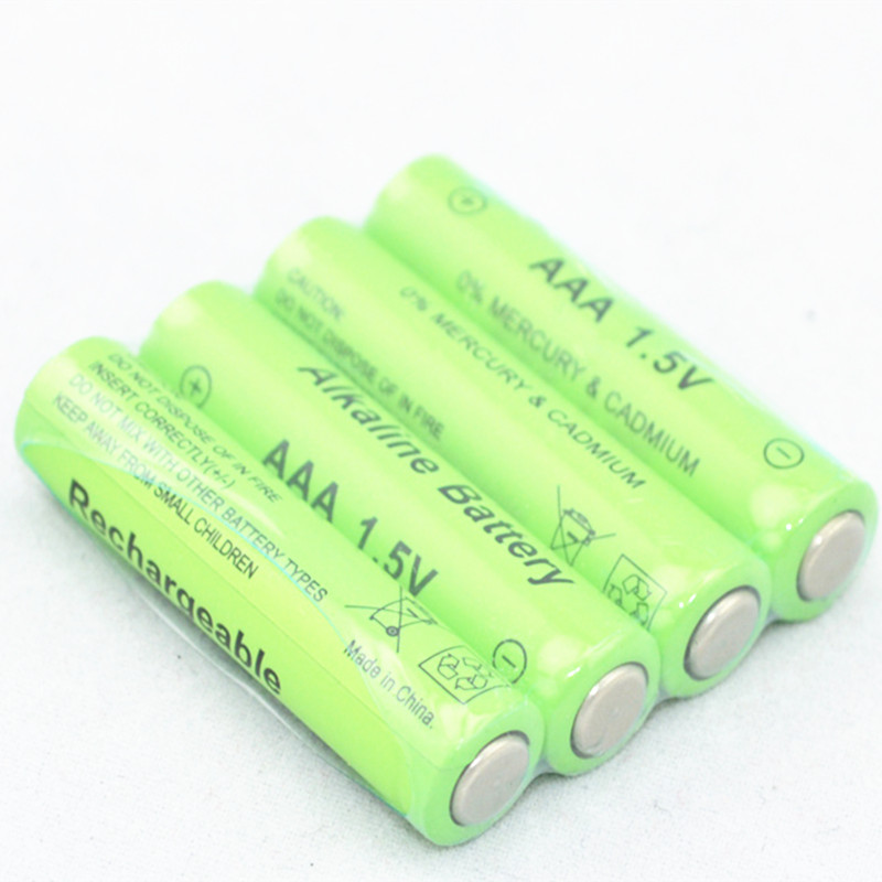 4pcs/lot New Brand AAA Battery 2100mah 1.5V Alkaline AAA rechargeable battery for Remote Control Toy light Batery free shipping(China)