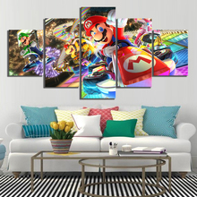 Modern Home Decor Picture Mario Kart Cartoon Game Wall Art Canvas Painting HD Printed Poster Paintings Artwork