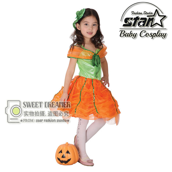 Baby Girl Halloween Tutu Dress Pumpkin Girls Party Costume Kids Toddler Tutu Princess Dress Festival Halloween Stage Dresses