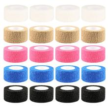 Disposable Tattoo Grip 25mm Self Adhesive Bandages Nonwoven Fabric Elastics Tapes For Sport Protection Accessories 24 Rolls