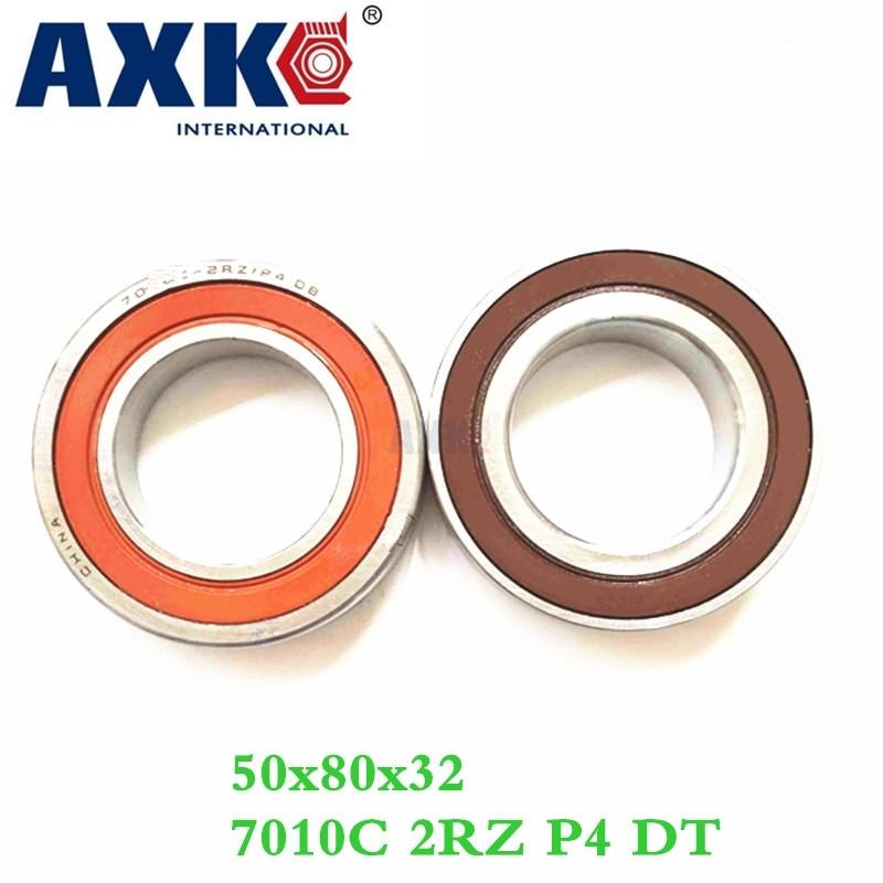 Axk 1 Pair 7010 7010c 2rz P4 Dt 50x80x16 50x80x32 Sealed Angular Contact Bearings Speed Spindle Bearings Cnc Abec-7 1pcs mochu 7010 7010c 7010c p5 50x80x16 angular contact bearings spindle bearings cnc abec 5
