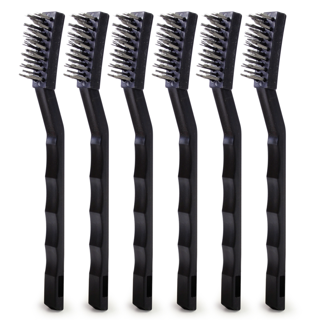 LETAOSK 6pcs Steel Wire Brush Rust Sparks Brush Remover Cleaning Metal 17cm Polishing ToolAccessories
