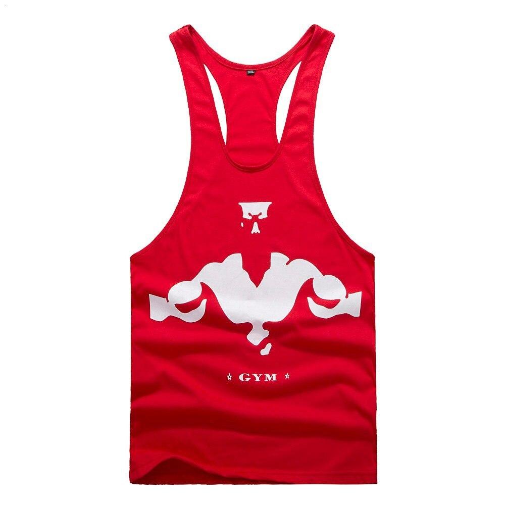 Gymwear מדליות זהב גופיית סטרינגר ההגעה כושר כותנה גברים Gorilly שמש לכל היותר חזק פיתוח גוף, אימון טנק Racerback האפוד