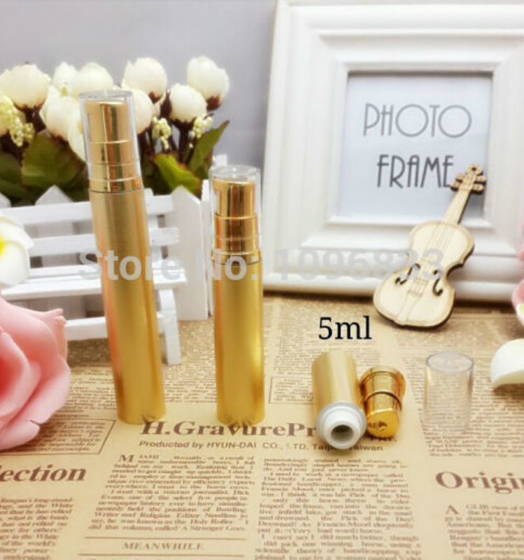 10ML Golden Airless Bottle, Kosmetisk Airless Bottle 10G, Essence Lotion Serum Packaging Bottle, 10g Vacuum Bottle, 100 st / Lot