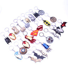 2019 Captain America Thor Batman Iron Man Superman Spider Man Avengers porte-clés porte-clés film Super héros porte-clés accessoires(China)