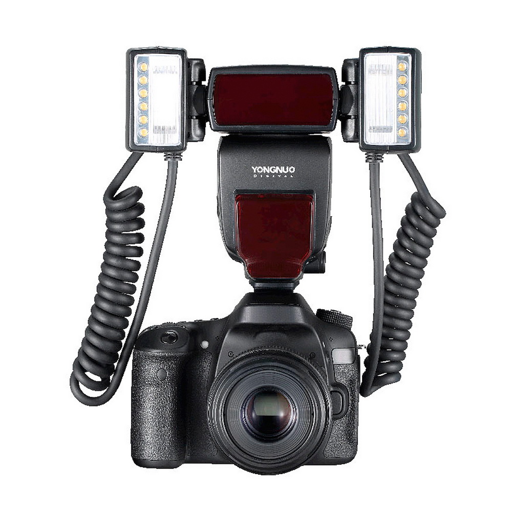 Yongnuo YN24EX TTL Macro Flash Speedlite with 2*Flash Head for Canon EOS 1Dx 5D3 6D 7D 70D 80D 5DIII