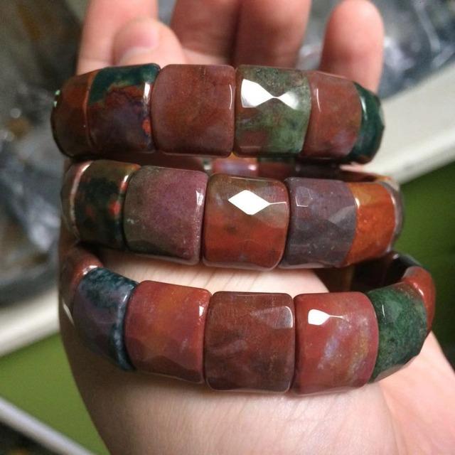 Natural Bloodstone Beads Bracelet