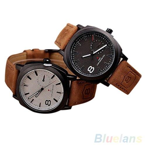 Unisex Mens Stylish Quartz Analog Faux Leather Band Wrist Watch smt 89Unisex Mens Stylish Quartz Analog Faux Leather Band Wrist Watch smt 89