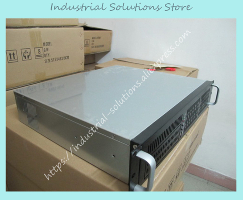 NEW The 2U server firewall storage 2U chassis installed PC power 380 short chassis aluminum panel new computer case firewall ultra short 1u 420mm