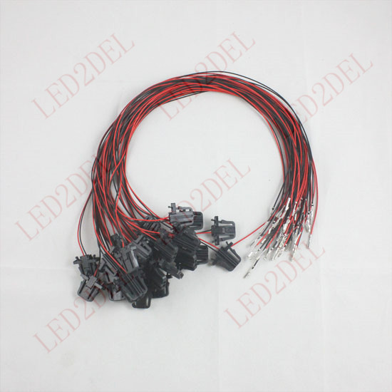 50cm OEM LED Door Warning Light extension Wire harness Cable For VW Golf Jetta MK5 aliexpress com buy 50cm oem led door warning light extension For Ford 302 Fuel Injection Wiring Harness at alyssarenee.co