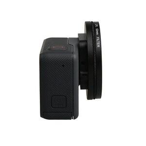 Image 3 - Cubierta impermeable de Metal negro de 52mm con polarización Circular CPL juego de filtros para lentes con adaptador de filtro para GoPro Hero 7 6 5
