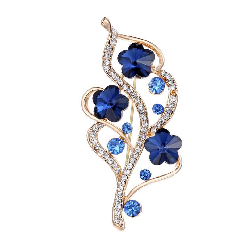 9f1a9fe85afee Detail Feedback Questions about New Fashion Rhinestone Blue Flower ...