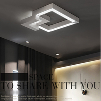 LED Modern Geometric Iron Acryl Black White LED Lamp LED Light Ceiling Lights LED Ceiling Light