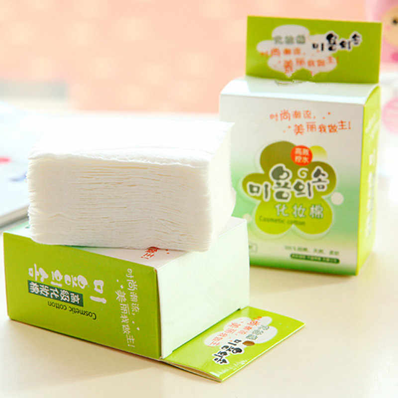 100 ピース/バッグ綿韓国顔オーガニックフェイシャルクリーニングマニキュアリムーバー化粧ティッシュメイク美容スキンケアツール