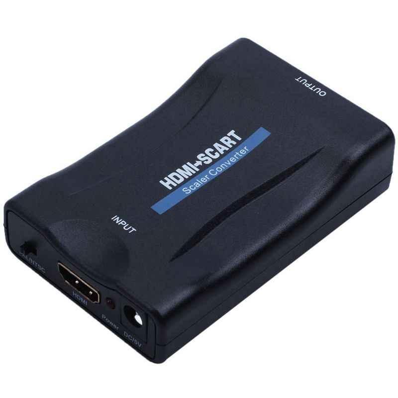 HDMI к SCART адаптер 1080p видео аудио конвертер Scaler смартфон STB