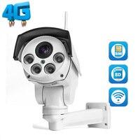 960 P IP Камера Wi Fi 3g 4 г sim карты Камера Wi Fi HD Пуля PTZ Камера открытый Беспроводной ИК 50 м 5X зум объектив с автофокусировкой CCTV Cam