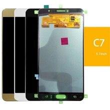 سوبر Amoled لسامسونج غالاكسي C7 C7000 عرض LCD شاشة تعمل باللمس محول الأرقام الجمعية الاستشعار 5.7 بوصة