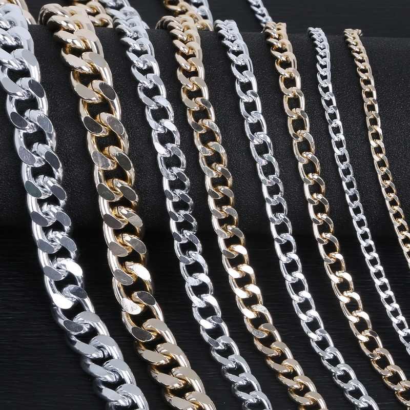 Metalowy łańcuch antyczne srebro pozłacane biżuteria ustalenia łańcucha aluminium złącze do tworzenia DIY bransoletka naszyjnik łańcuch