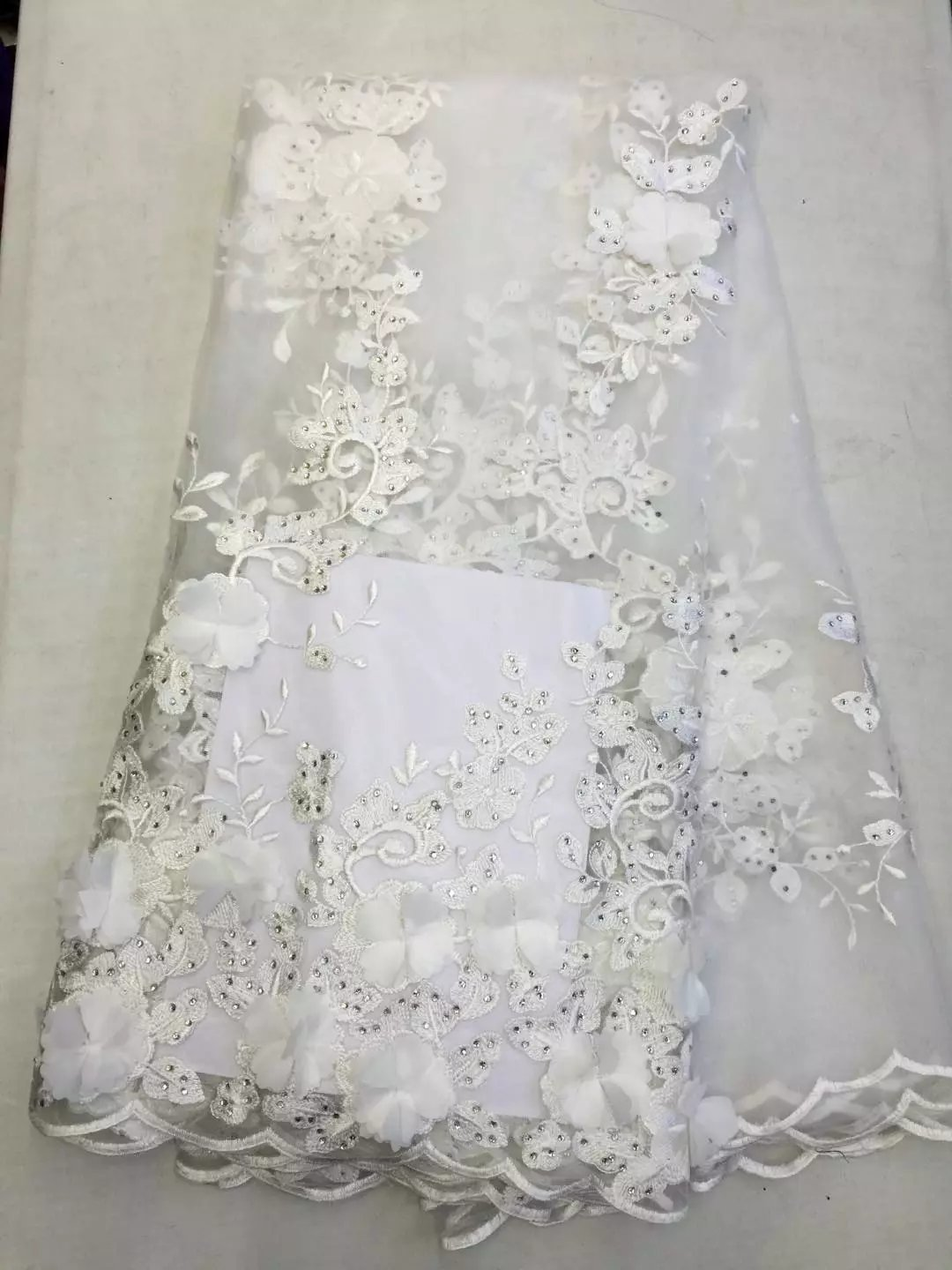Popular fabric for wedding dress lace 3d buy cheap fabric for white 3d lace fabric for wedding dresses 5yardlot 3d flower fabric 2017 high quality ombrellifo Images