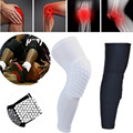 1pcs Hex Sponge Basketball Knee Pads Sports Safety Knee Protector Brace Calf Compression Support Leg Sleeve