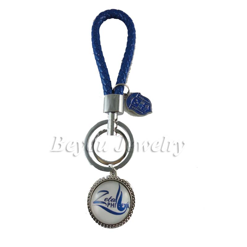 Fashion Braided Leather Tag Keychain Car Keychain auto Keyring ZETA ...