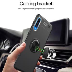 Image 3 - 電話ケース A50 A70 ケース Luxurry 磁気車リングソフトシリコンカバー Funda 用銀河 A30 A40 を 50 ケース Capa