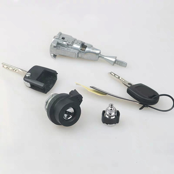 Saborway พวงมาลัยล็อคสวิทช์จุดระเบิด Key กุญแจประตูล็อคสำหรับ J etta Golf 1KD 800 375D