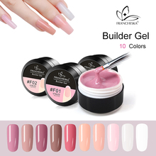 Francheska Camouflage Gel Builder Gel Quickly Uv Builder Gel Soak Off Nail Extension Jelly Poly 10 Colors Clear Pink White