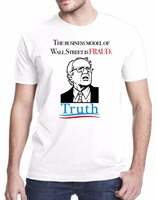 New Arrivals Summer Style Funny Bernie Sanders The Business Model Of Wall Street Is Fraud Men