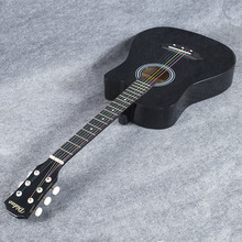 free shipping Ballads 38inch guitar musical instrument acoustic guitar length of the 96cm black Beginner Home-schooling Unisex