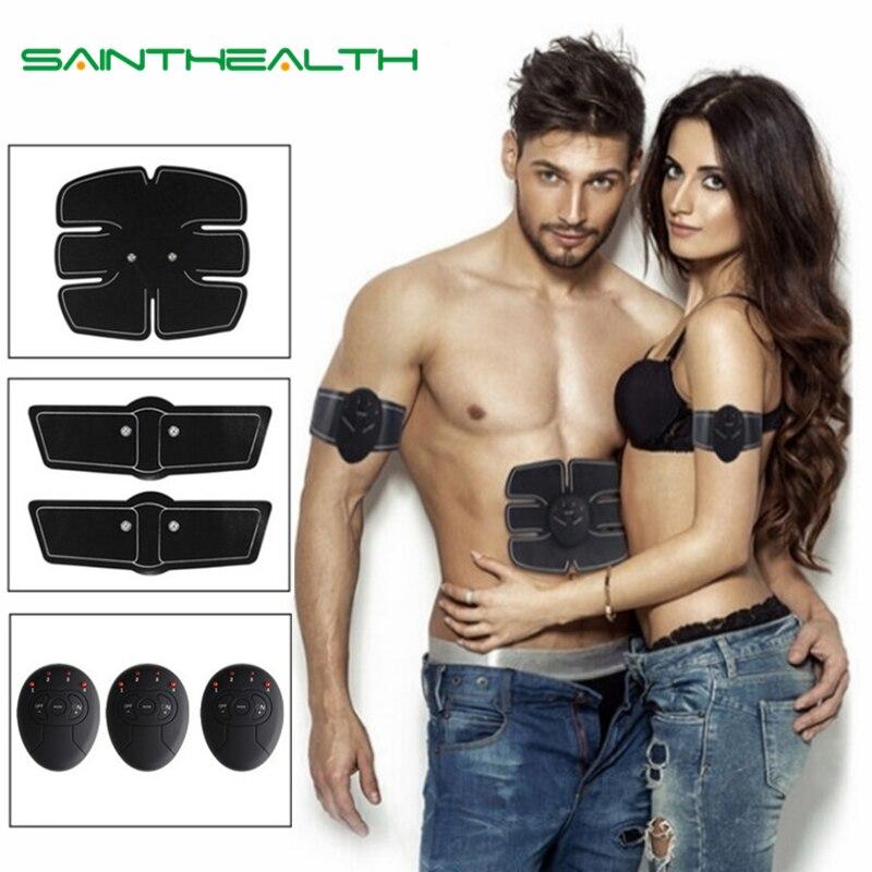 Abdominal máquina estimulador muscular eléctrico ABS ems entrenador fitness pérdida de peso adelgazamiento de cuerpo masaje suave con caja de venta al por menor