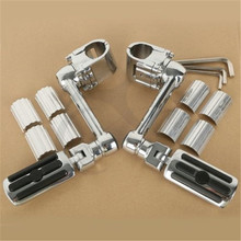Motorcycle 1 1/4 Highway Chrome Front Foot pegs Footrest For Honda GL1800 GOLDWING