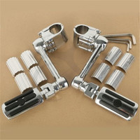 Motorcycle 1 1/4'' Highway Chrome Front Foot pegs Footrest For Honda GL1800 GOLDWING