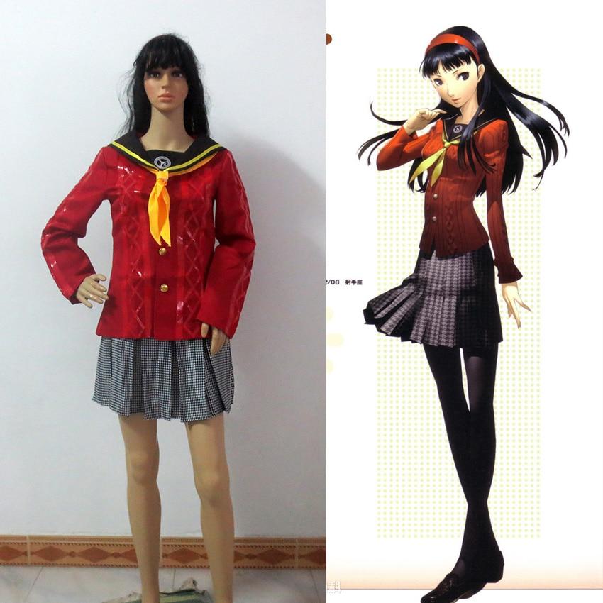 Persona 4 Amagi Yukiko School Uniform Cosplay Costume Custom made Carnival Halloween Anime cosplay costume