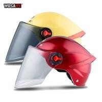 Motorcycle Helmet electric scooter Open Face Half Helmets Anti UV Safety Hard Hat Motocross Helmet Multiple Color Protective Cap|Helmets| |  -
