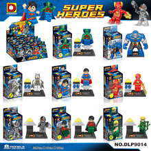 DLP9014 Duck Said/Flash/Super Man 8Pcs/lot Minifigures Building Block Minifigure Toys Compatible Legoe