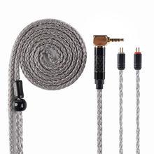 HiFiHear 16 Core Silber Überzogene Kupfer Kabel 2.5/3,5mm Ausgeglichen Kabel Mit MMCX/2PIN/QDC für BLON BL-01 BL-03 KZ ZSX ASX EDX DQ6