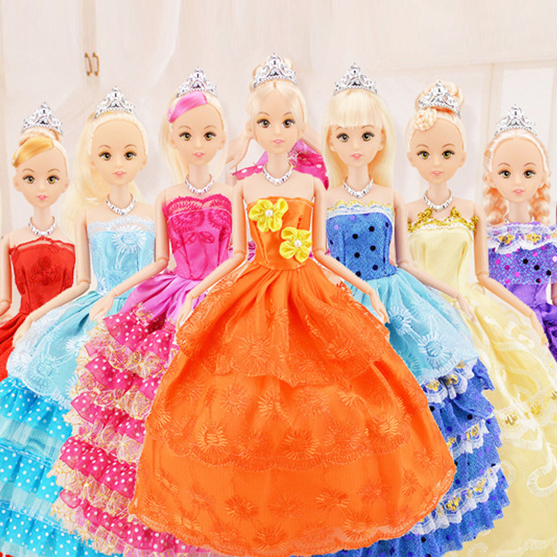 New Favorite Princess Doll Fashion Party Wedding Dress Moveable Joint Body Classic Toys Best Gift for Girls Friends 30cm best girl toys 2017