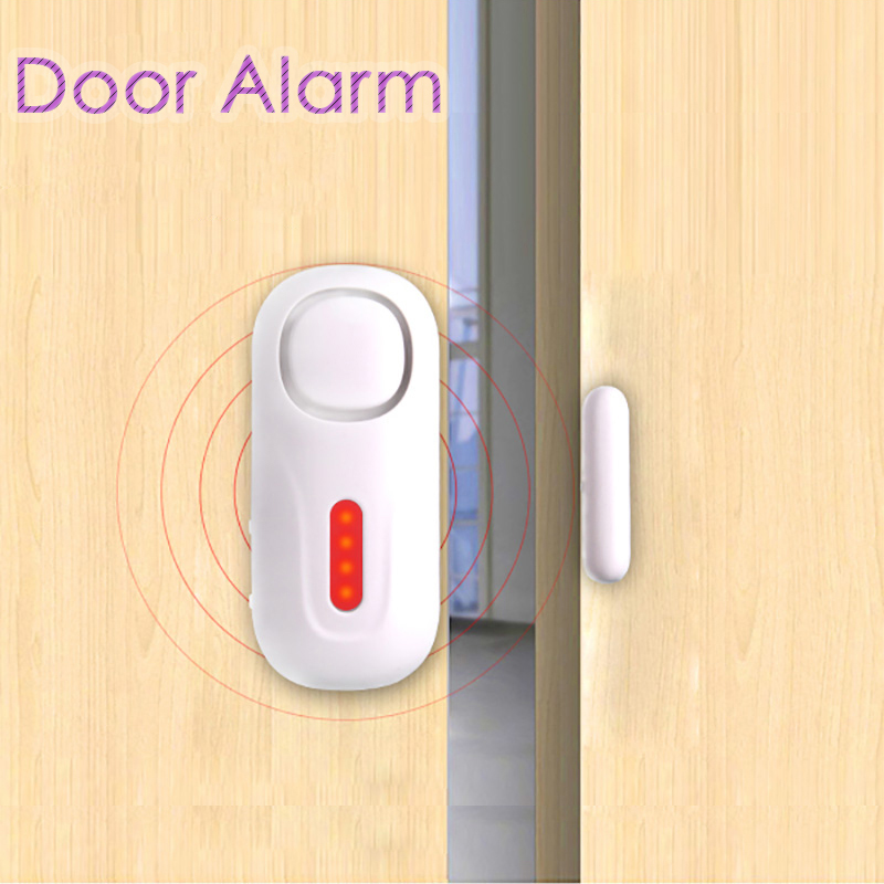 433Mhz Home Security Door Window Siren Magnetic Sensor Alarm Warning System Wireless Remote Control Door Detector Burglar Alarm leshp 105db wireless remote control door vibration alarm sensor door window home security sensor detector with remote control