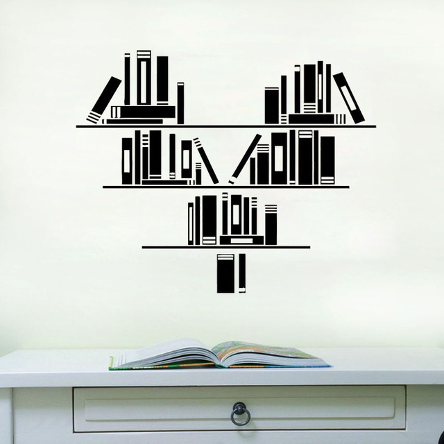 Aliexpress.com : Buy ZOOYOO Books Reading Room Library Wall Decal ...