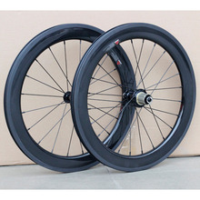 Wholesale Carbon Fiber 20″ Wheelsets 20H 24H 451 Wheels Rim Caliper V Brake For 20″ Folding Minivelo Bike 100mm / 130mm Glossy