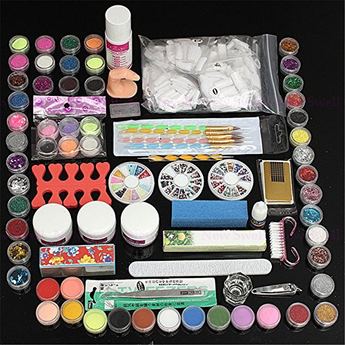 Nail Art Tool Kit: Professional 88pcs/set Plastic Box Nail Art Manicures