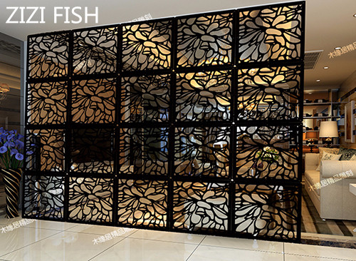Us 34 2 10 Off Entranceway Compartmentation Hanging Wooden Carved Cutout Carving Room Divider Parion Wall Biombo Dividers Parions In