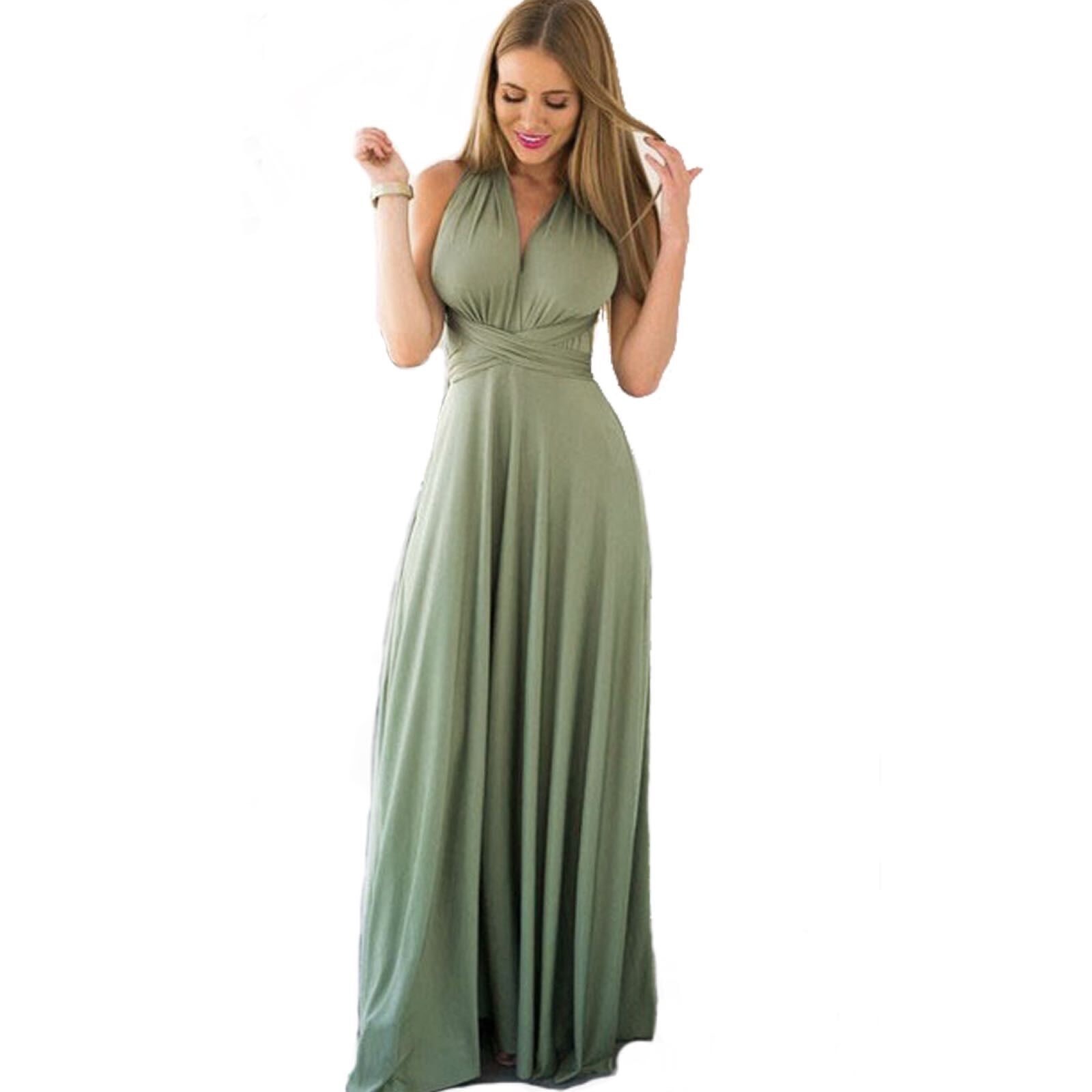 Women Multiway Wrap Convertible Boho Maxi Club Dress Sexy Bandage Long Dress Party Bridesmaids Infinity Robe Longue Femme Dress Платье