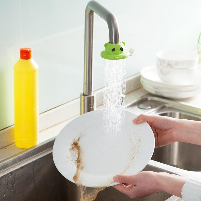 3 色水ストレーナー 360 度回転漫画キッチン蛇口節水噴霧器品質水切り節水蛇口