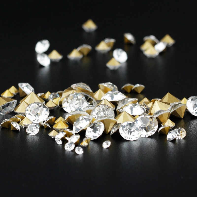 ... Chaton For Crafts Pointback Crystal Glass Loose Rhinestones Round  Rivoli Glass Shiny Stones Rhinestone Beads Diy ... 6d651bacb96d